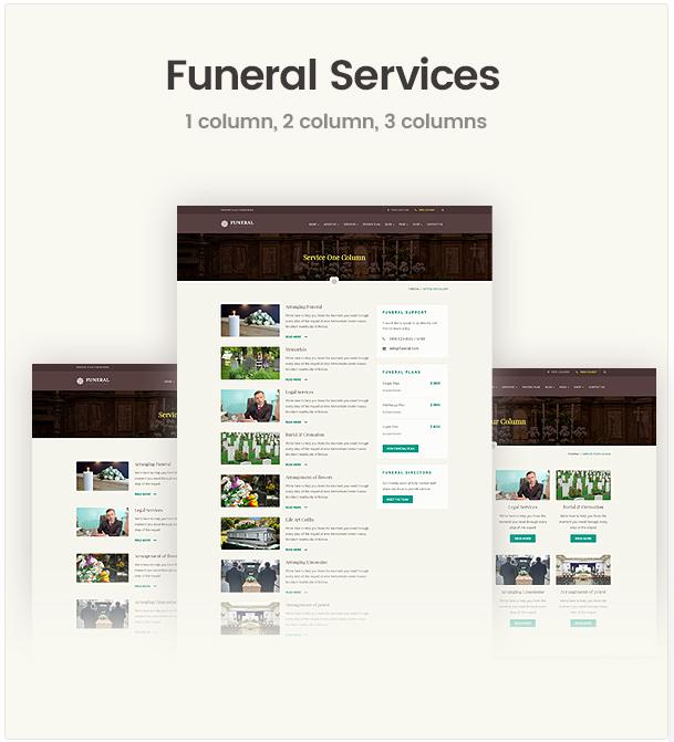 Funeral Service Responsive WordPress Theme
